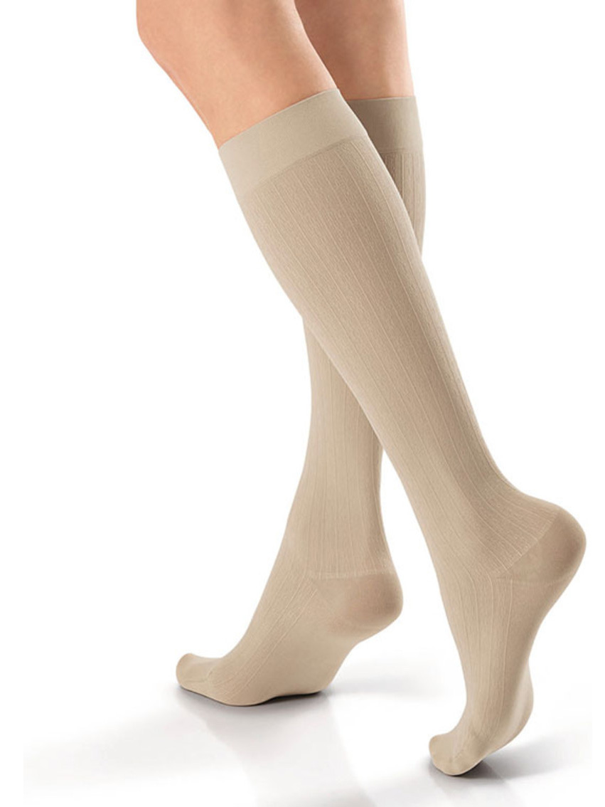 Jobst Women's SoSoft Brocade Knee Socks - Large - Sand - Large