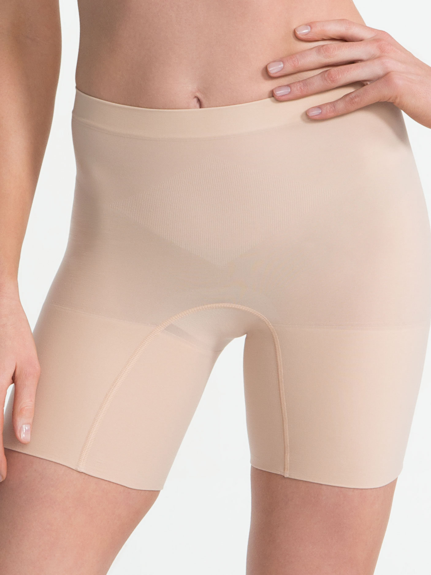 SPANX Mid-Thigh Power Short - Soft Nude - Small