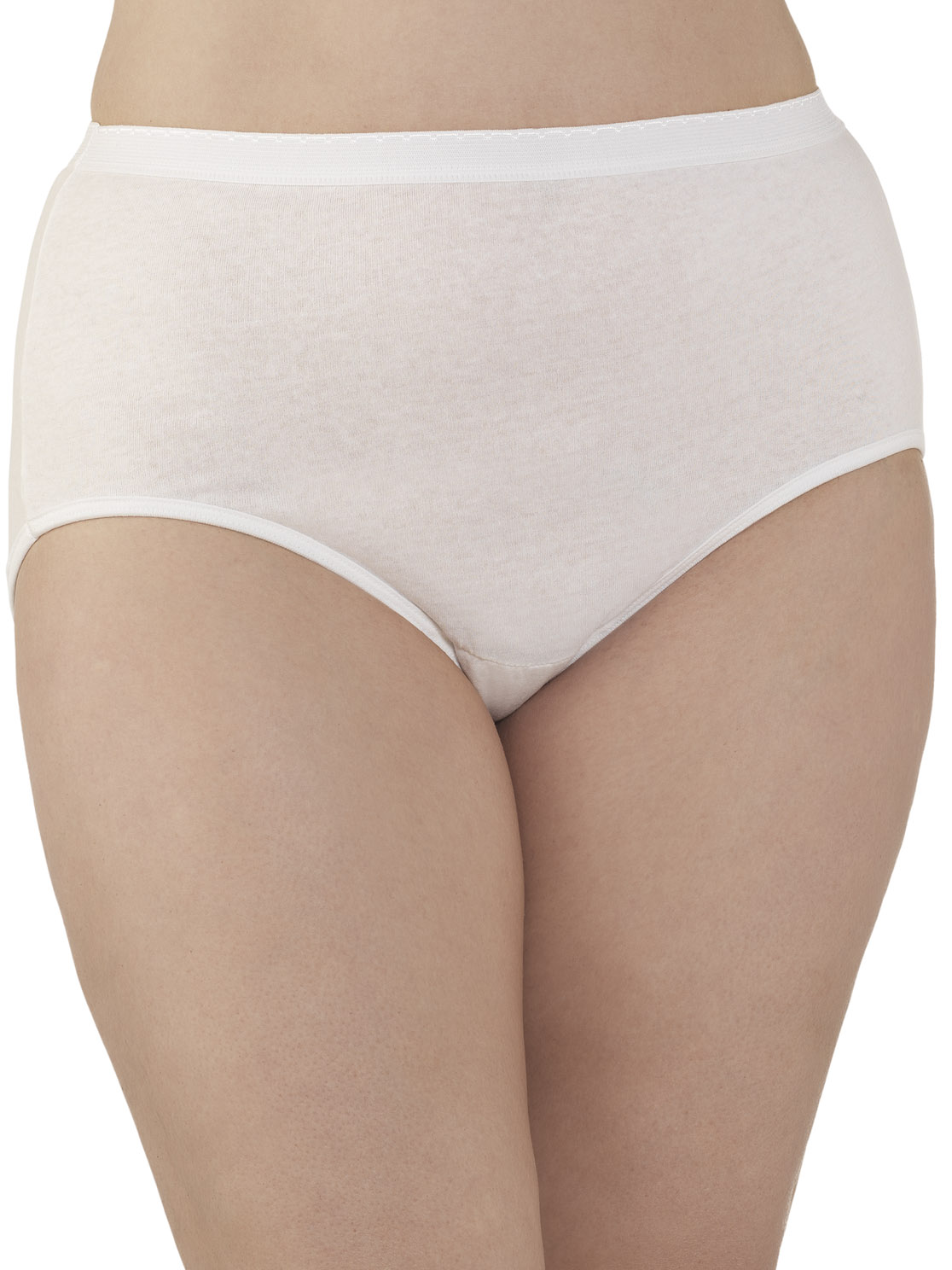 Fruit of the Loom Women's Fit For Me 3-Pack Brief - Plus Size - White - 9