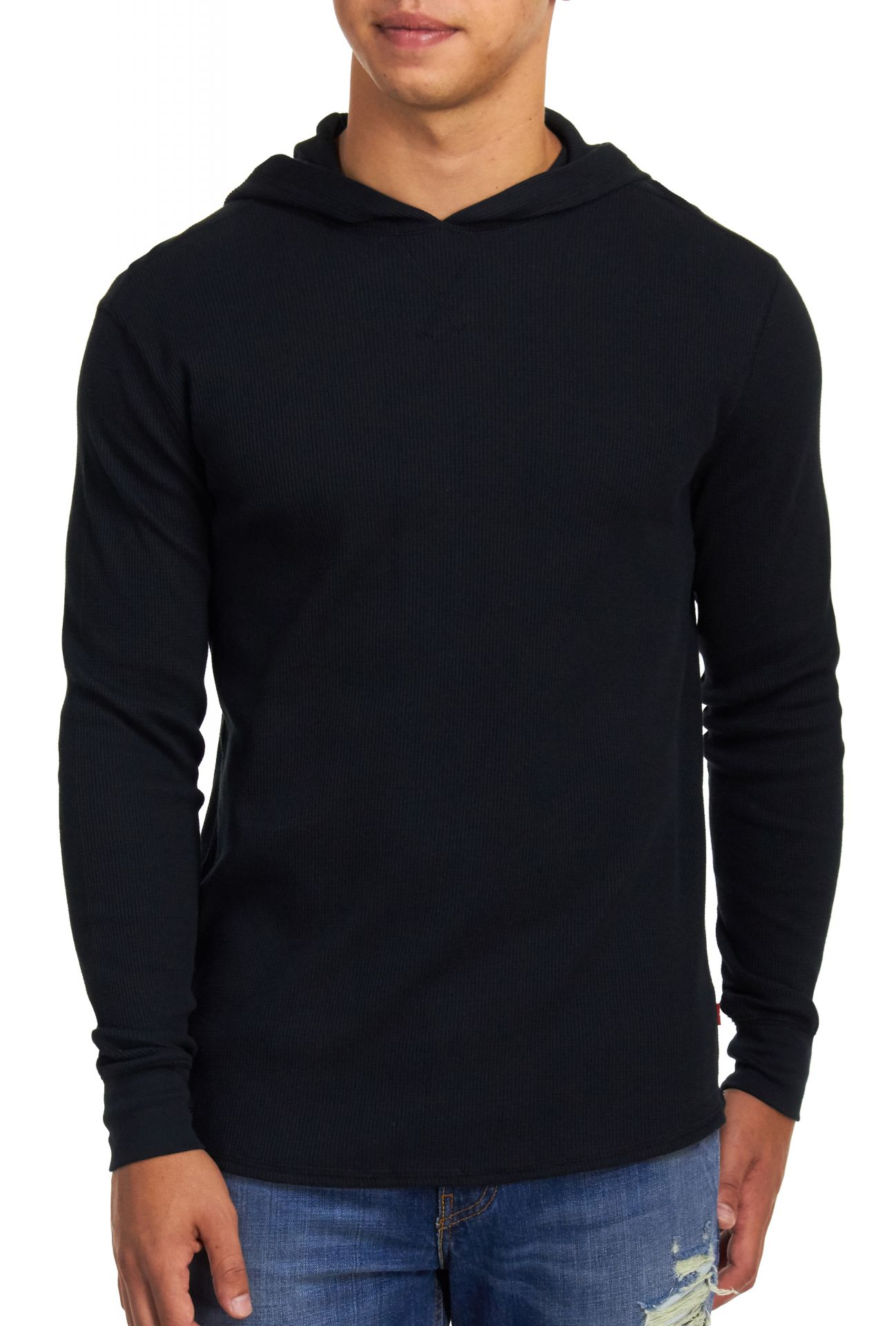 Image of Levi's Men's Corrado Thermal Hoody - Caviar - Small