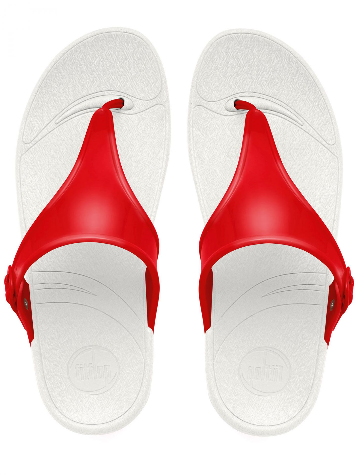 """FitFlopâ""""¢ Women's Superjelly™ FF Sandals - FF Red - 5"""