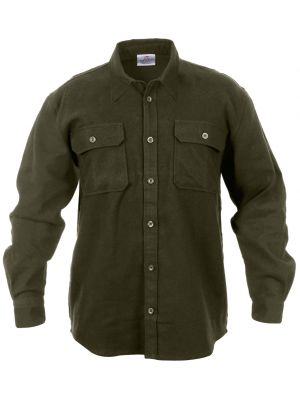 Rothco Men 39 S Heavy Weight Solid Flannel Shirt
