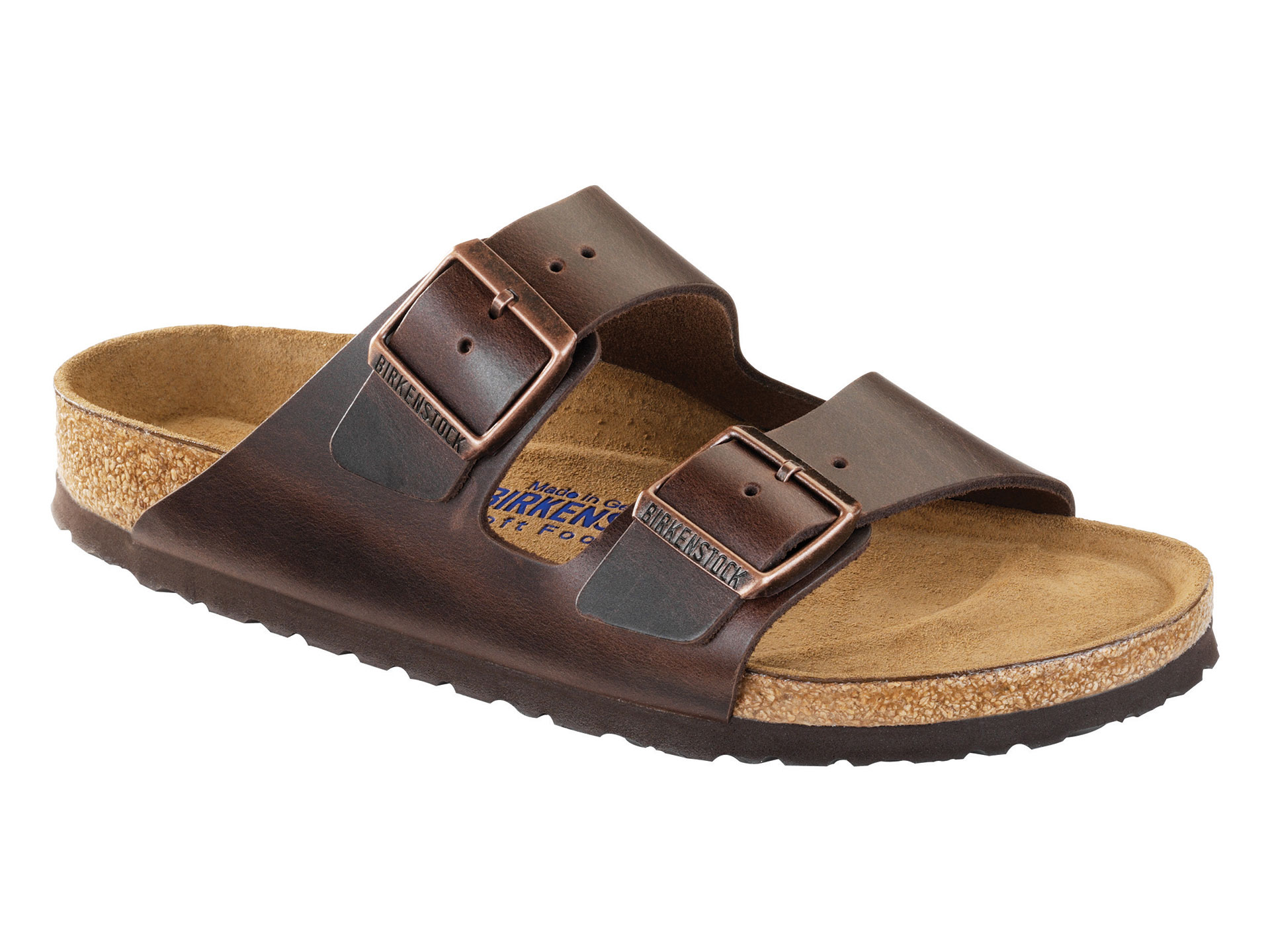 Birkenstock Arizona Soft Footbed Leather Sandals - Brown - 36 Narrow