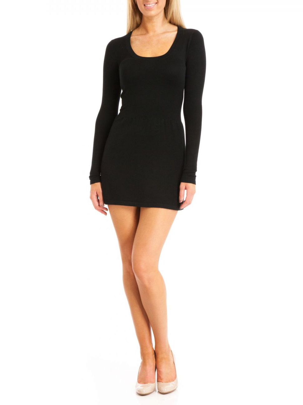 Survival Women's Baby Doll Knit Dress - Black - Small