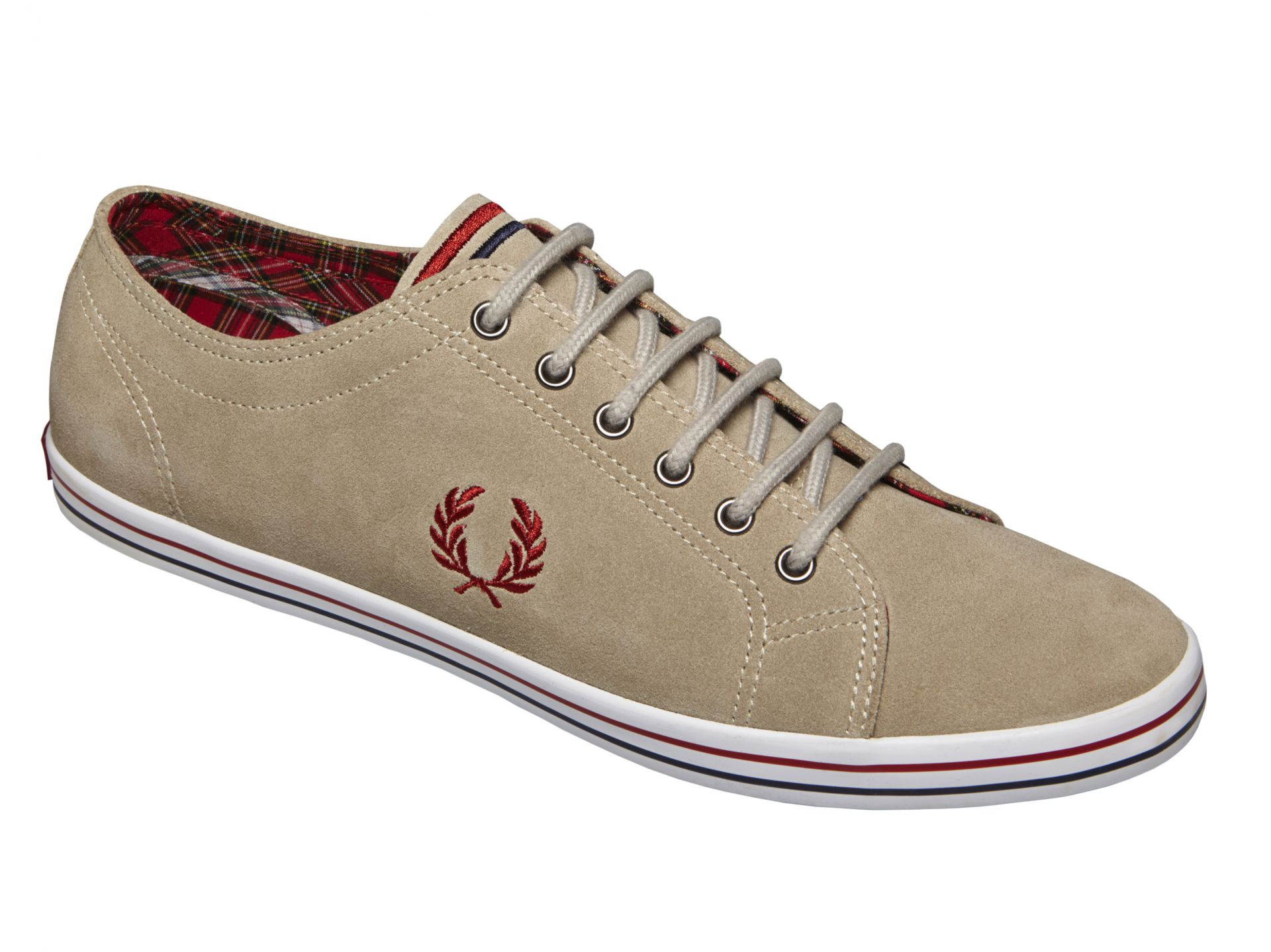 Fred Perry Men's Kingston Suede Shoe - Sand - 7