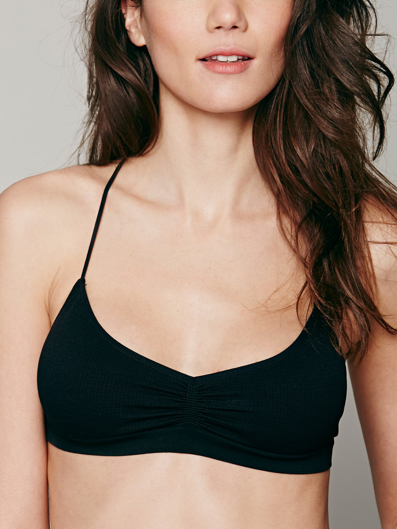 Free People Seamless Strappy Back Bra - Black - XSmall/Small plus size,  plus size fashion plus size appare