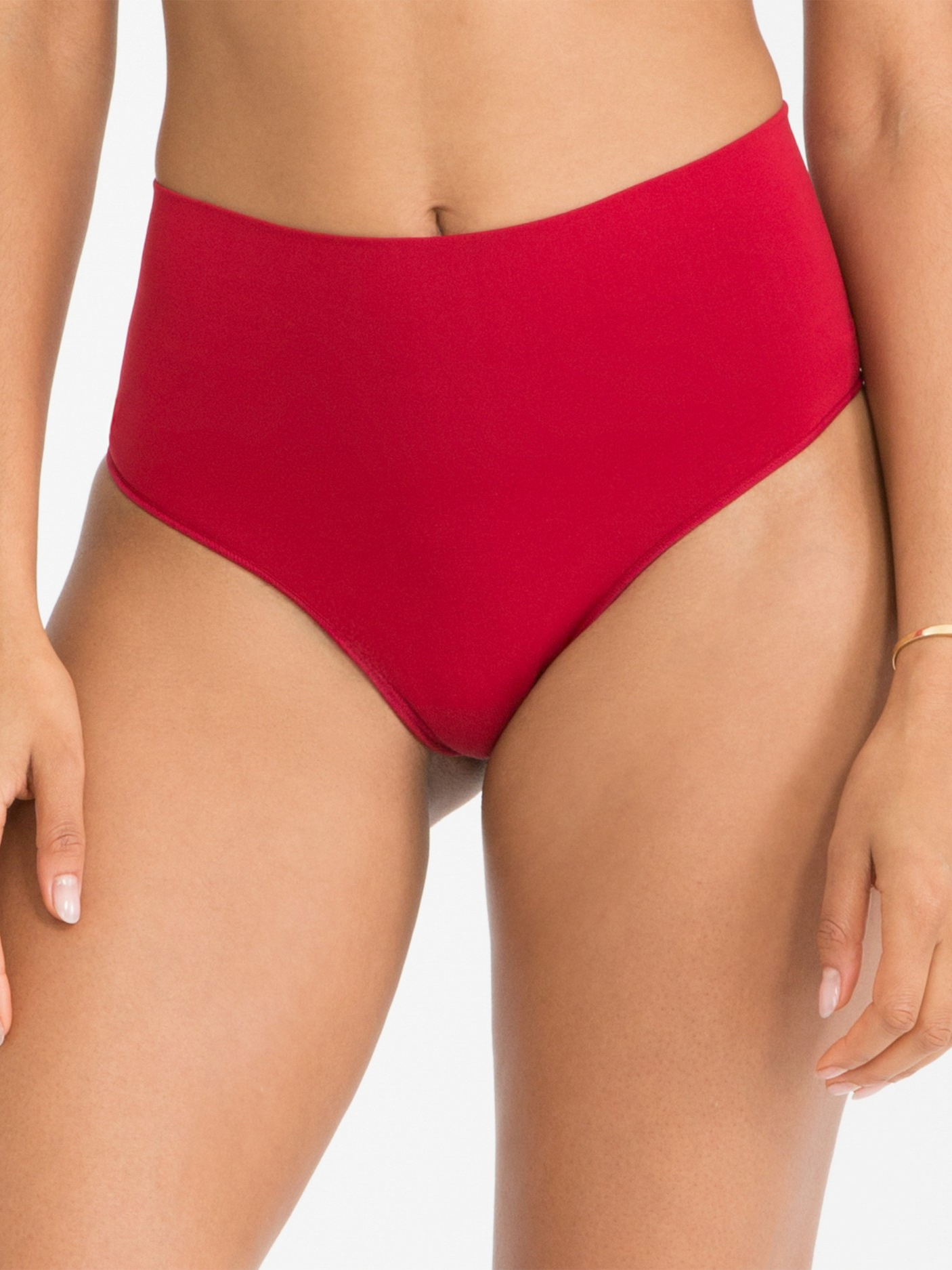 SPANX Everyday Shaping Panties Thong - Rouge Red - Small