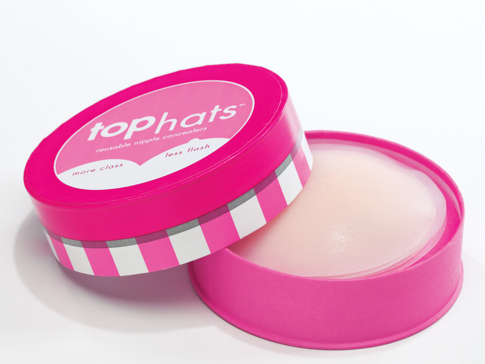 Commando Top Hats Reuseable Silicone Nipple Concealers - Clear