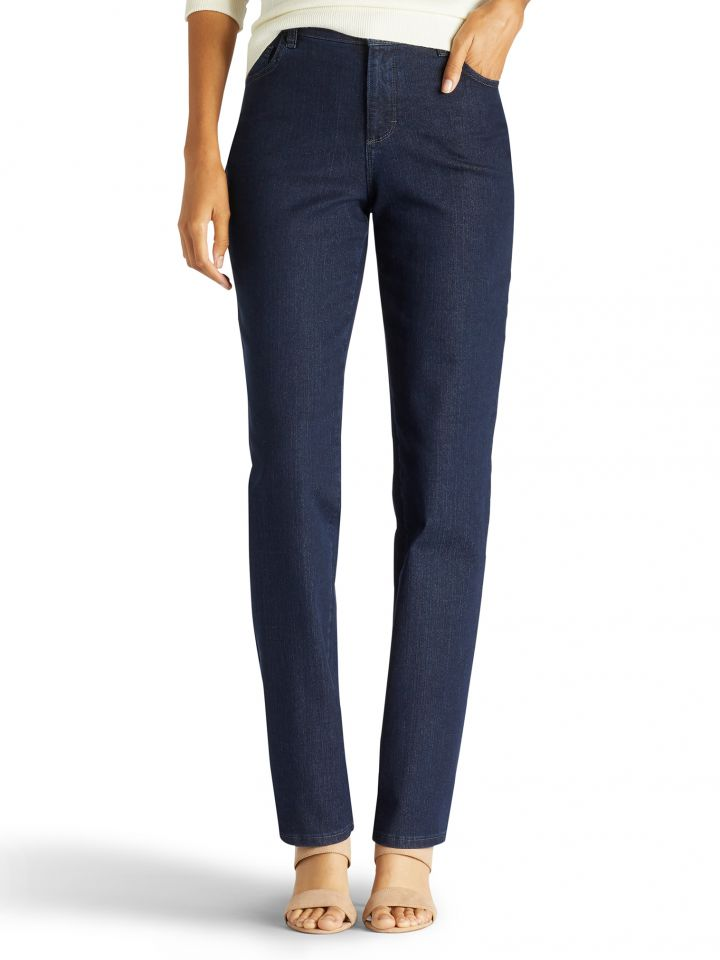 f069a919 Product Information. The Lee Monroe Straight Leg Jean instantly slims you  ...