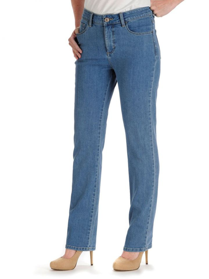 56989261 Product Information. The Lee Monroe Straight Leg Jean instantly slims ...