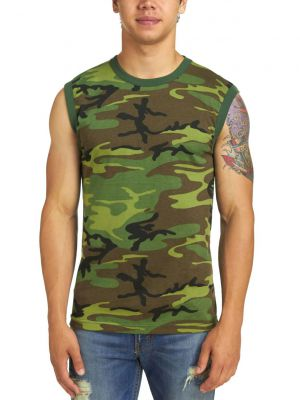 Rothco Men S Camouflage Muscle T Shirt