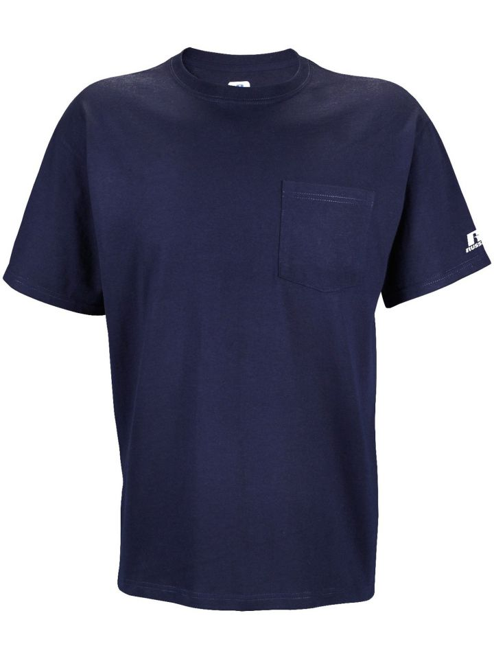 f47ba6630a2 Product Information. This Russell Athletic Basic Cotton Pocket Tee ...