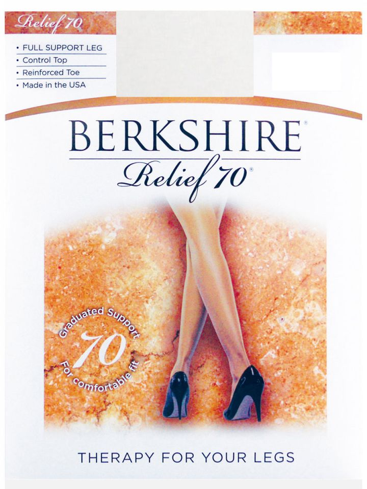 3ef7481ea86 Berkshire - Relief Support Control Top Pantyhose - Reinforced Toe