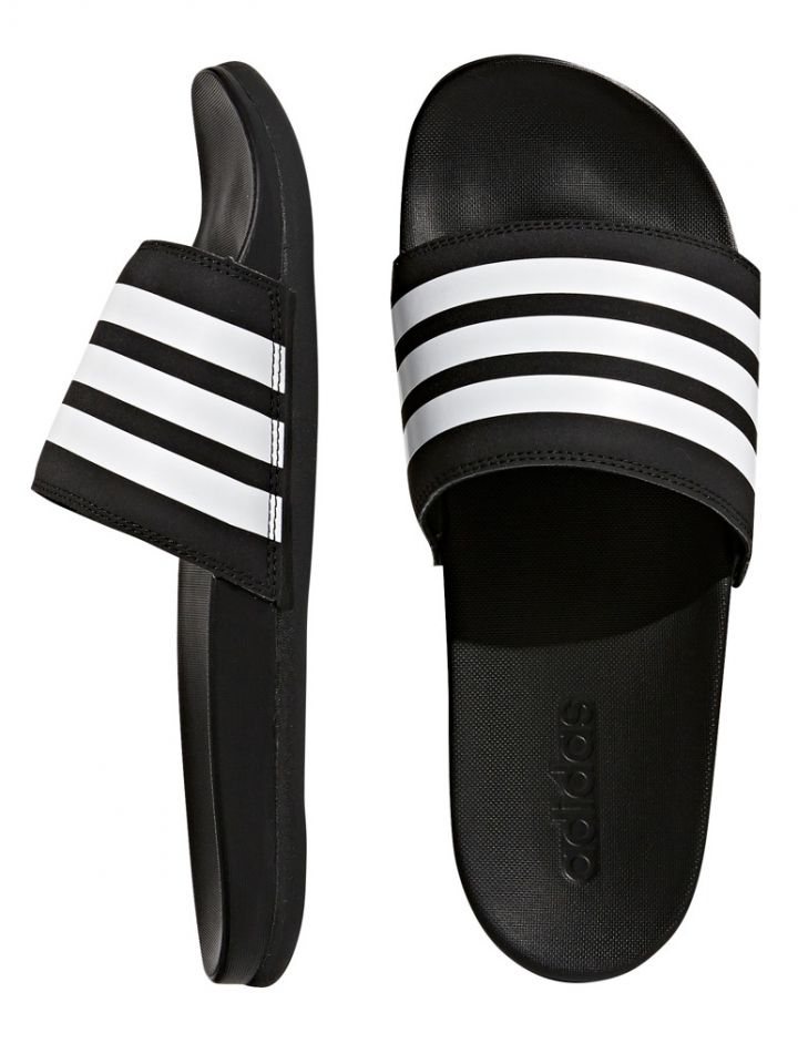 Product Information. The lightweight Men s Adilette Cloudfoam Plus Slide  Sandals from Adidas ... 1e9a82d8f4132